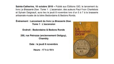 Lancement du livre La Brasserie Dow, Tome 1: L'ascension